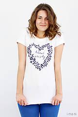 Tričká - Dámske tričko biele ĽÚBENÁ NAVŽDY - 8254750_