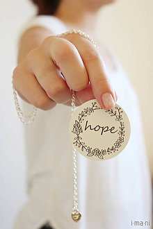 Náhrdelníky - Náhrdelník HOPE - 8253375_
