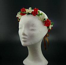 Ozdoby do vlasov - Summer Rose War ... věnec - 8257785_