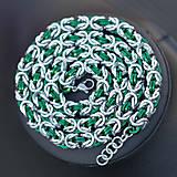 Náhrdelníky - Elegant Friend - zelený náhrdelník - 8256335_