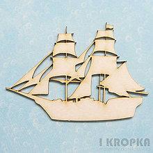 Polotovary - Výrez Cestovanie - Veľká loď - 8258739_