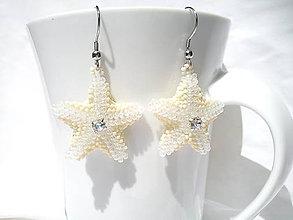 Náušnice - Náušnice - Morská hviezda/chirurgická oceľ - 8257157_