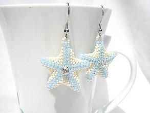 Náušnice - Náušnice - Morská hviezda/chirurgická oceľ - 8257762_