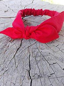 "Ozdoby do vlasov - Čelenka - červená ""red lips"" - 8258206_"