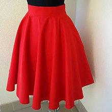 Sukne - Červená sukně kolová - 8258640_