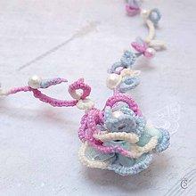 Náhrdelníky - Barevná růže - náhrdelník - 8258462_