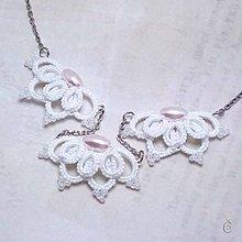 Náhrdelníky - Náhrdelník s růžovými perlami - 8258472_