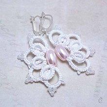 Náušnice - Náušničky s růžovými perlami - 8258485_