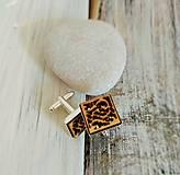 """Šperky - Manžetové gombíky """"Láska"""" (strieborné) - 8259132_"""