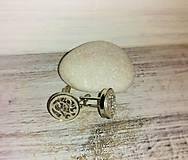 """Šperky - Manžetové gombíky """"Láska"""" (strieborné) - 8259220_"""