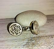 """Šperky - Manžetové gombíky """"Láska"""" (strieborné) - 8259226_"""