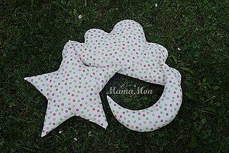 Textil - Detské podušky bodkované - 8257152_
