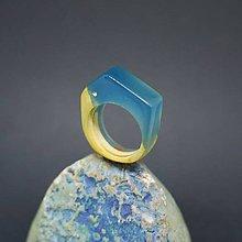 Prstene - Drevený prsteň: Z jazera - 8257581_