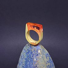 Prstene - Drevený prsteň: Malinové more - 8257595_