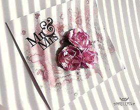 Papiernictvo - Kytica fialových ruží - 8257916_