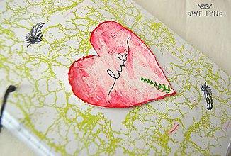 Papiernictvo - láska/zápisník - 8258452_
