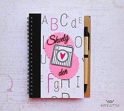 Papiernictvo - Skvelý deň/zápisník - 8259704_