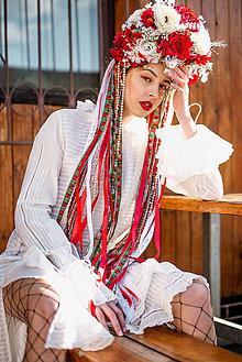 Ozdoby do vlasov - Veľká folklórna čelenka - 8259916_