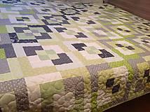 Úžitkový textil - Patchworková deka - 8256181_