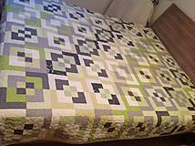 Úžitkový textil - Patchworková deka - 8256183_