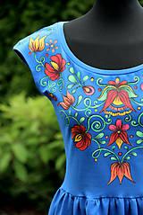 Šaty - Maľba na modré šaty... - 8256719_