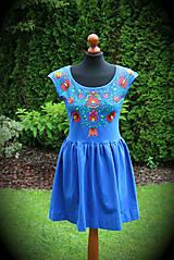 Šaty - Maľba na modré šaty... - 8256724_