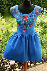 Šaty - Maľba na modré šaty... - 8256940_