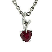 Iné šperky - Rubínové srdce - 8257349_