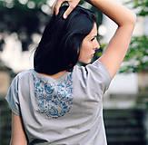 Tričká - Tričko s ručním tiskem - 8256149_
