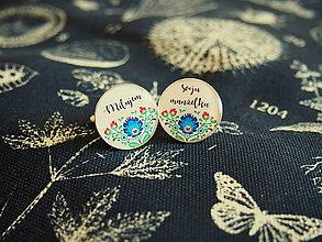 Šperky - Manžetky Milujem svoju manželku folklórne - 8257431_
