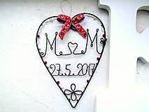 Dekorácie - svadobné s folk. stužkou - 8258855_