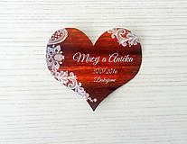 Darčeky pre svadobčanov - Biela čipka - magnetka - 8257672_