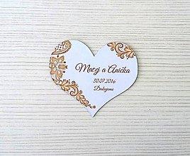 Darčeky pre svadobčanov - Hnedá čipka - magnetka - 8257696_