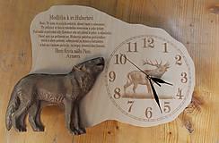 Nástenné hodiny Vlk