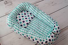 Hniezdo pre bábätko tyrkysovo-tmavomodré