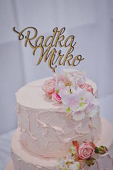 Dekorácie - Zápich na svadobnú tortu - 8261899_