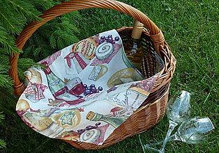 """Úžitkový textil - Obrúsok """"Francúzska kuchyňa"""" - 8261130_"""