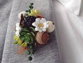 Odznaky/Brošne - brošňa Flowers in the Meadow II. - 8261842_