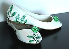 Obuv - balerínky s lesným motívom - 8262541_