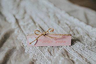 Darčeky pre svadobčanov - Svadobné menovky - 8261079_