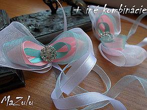 Dekorácie - mašle na zviazanie svadobných pohárov - 8260295_