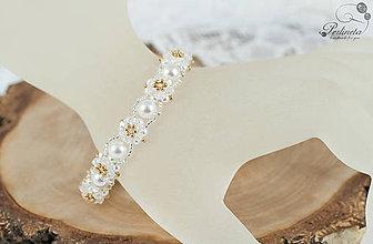 Náramky - Náramok Facile Crystal-Gold - 8261580_