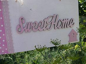 Tabuľky - Tabuľka Sweet home - 8262097_