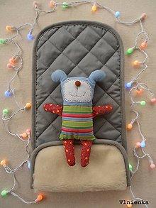 Textil - Podložka ELEGANT do kočíka 100% ovčie rúno MERINO TOP Bugaboo Cameleon Grey šedá - 8262812_