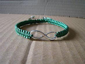 Náramky - Nekonečno zelený - 8260204_