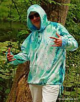 Mikiny - Pánska mikina s kapucou, sťahovacia, batikovaná, maľovaná, etno VARUNA - 8260595_