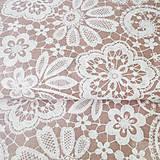 Textil - ružová výšivka; 100 % bavlna, šírka 140 cm, cena za 0,5 m - 8260179_