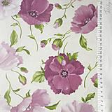 Textil - ružové maky, 100 % bavlna, šírka 155 cm, cena za 0,5 m - 8260669_
