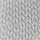 - čierno-biele vrkoče; 100 % bavlna Francúzsko, šírka 160 cm, cena za 0,5 m - 8260704_