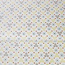 Textil - trojlístky a vrtuľky; 100 % bavlna, šírka 160 cm, cena za 0,5 m - 8260956_